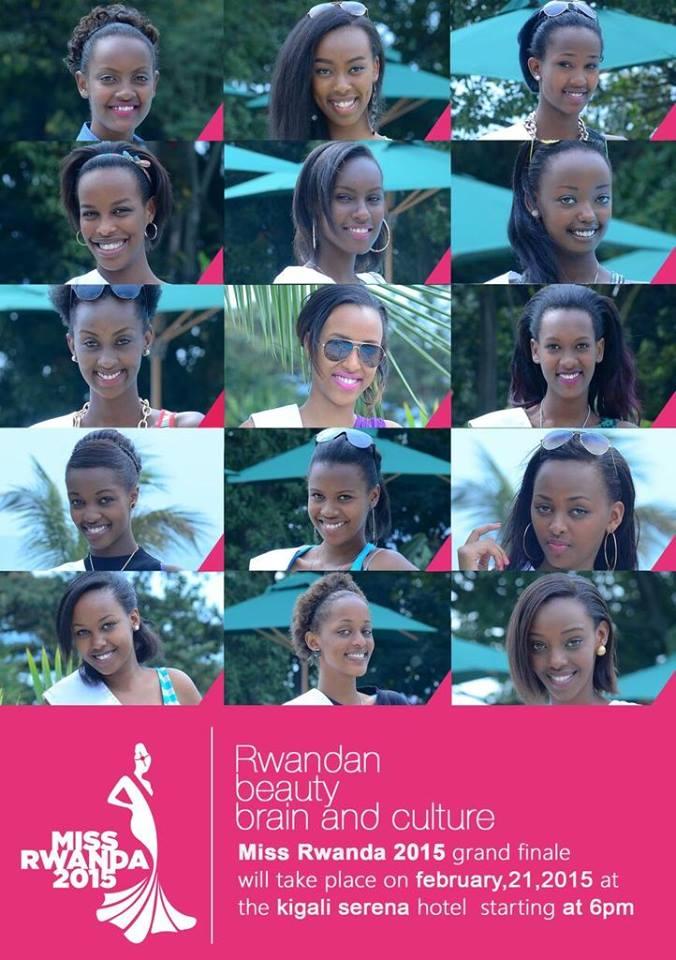 The Miss Rwanda Finalists 2015