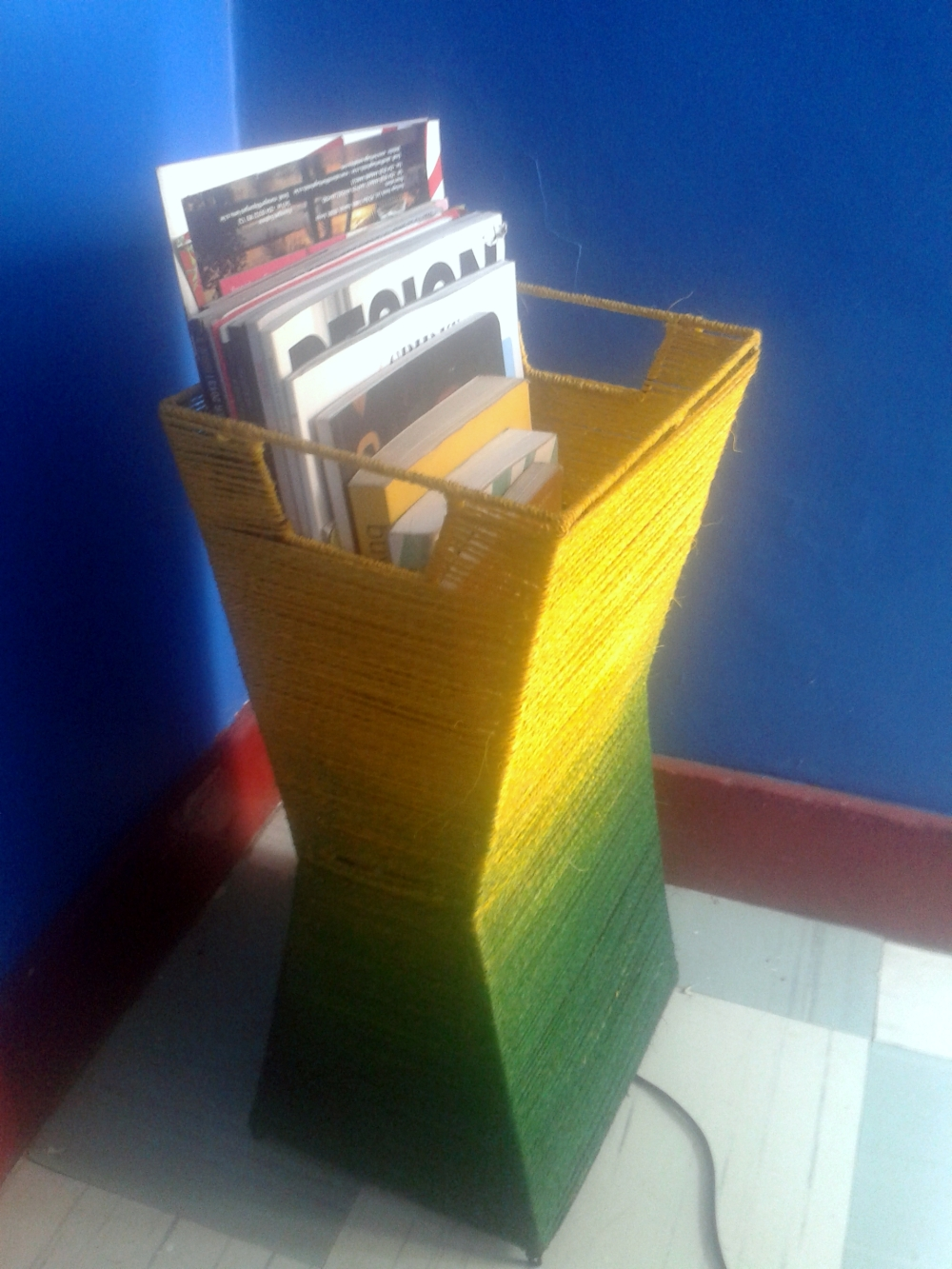 Maasai Market Lamp Shade and magazine rack