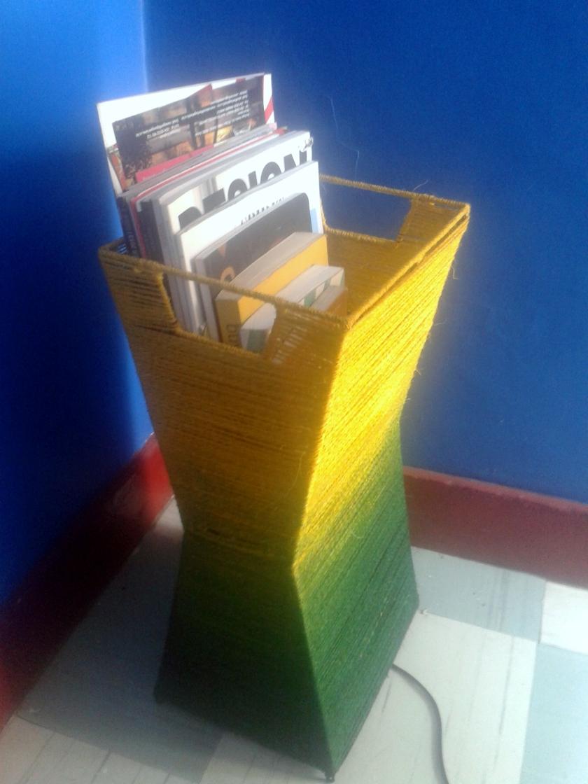 Maasai Market Lamp Shade and magazine rack