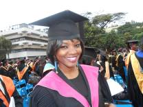 At my graduation
