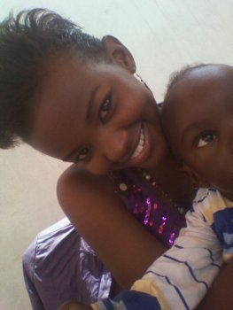 With my baby brother when he was 2 years old